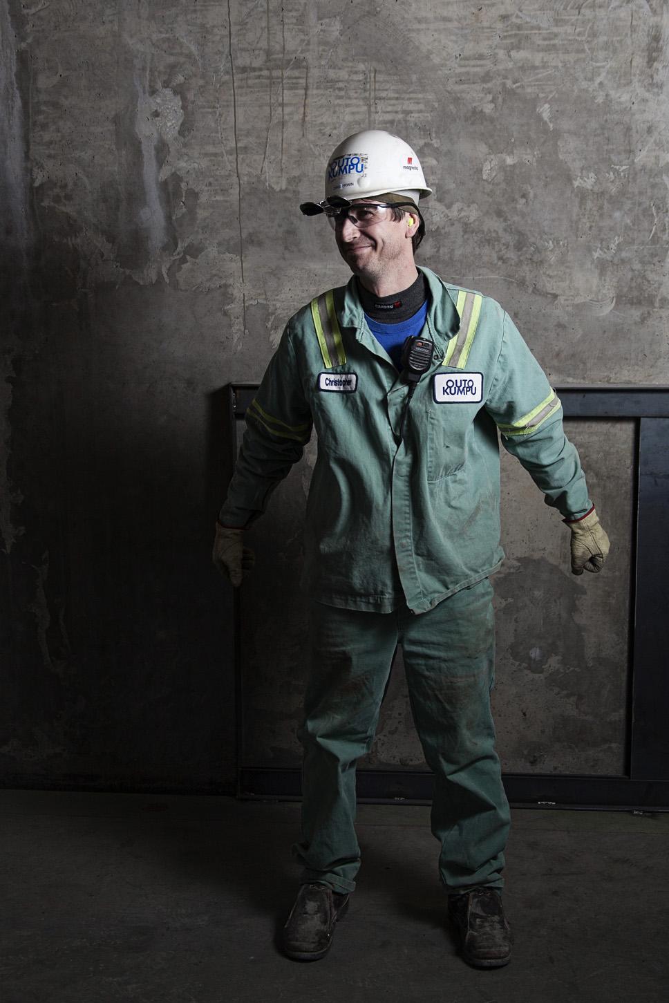 Industrial Plant Worker Portrait