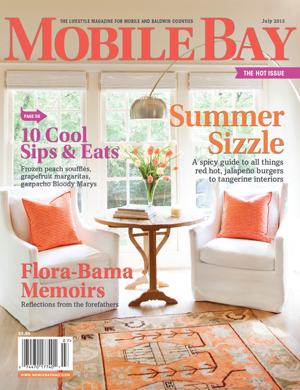 Mobile Bay Monthly - July edition - Cover article on the Waite family residence