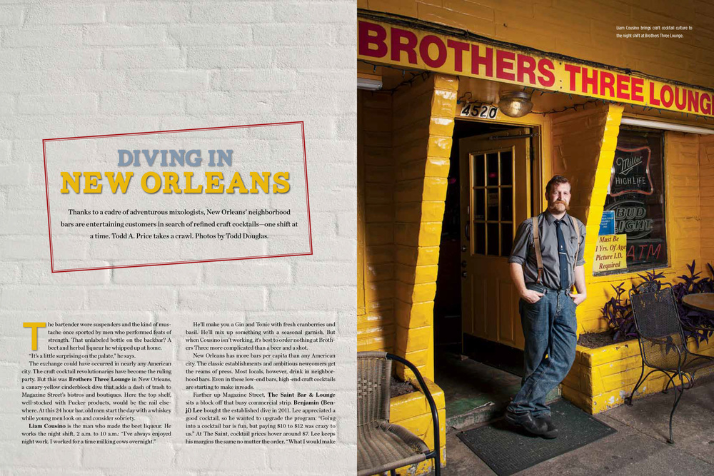 New Orleans Dive Bar Brothers Three for Food Arts Magazine | Todd Douglas Editorial Photography