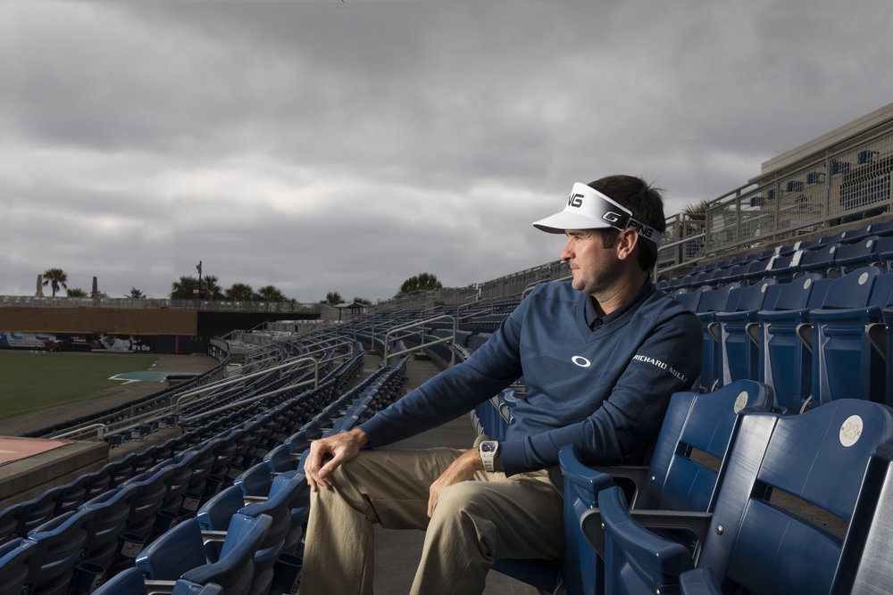 Bubba Watson at the Blue Wahoos Stadium