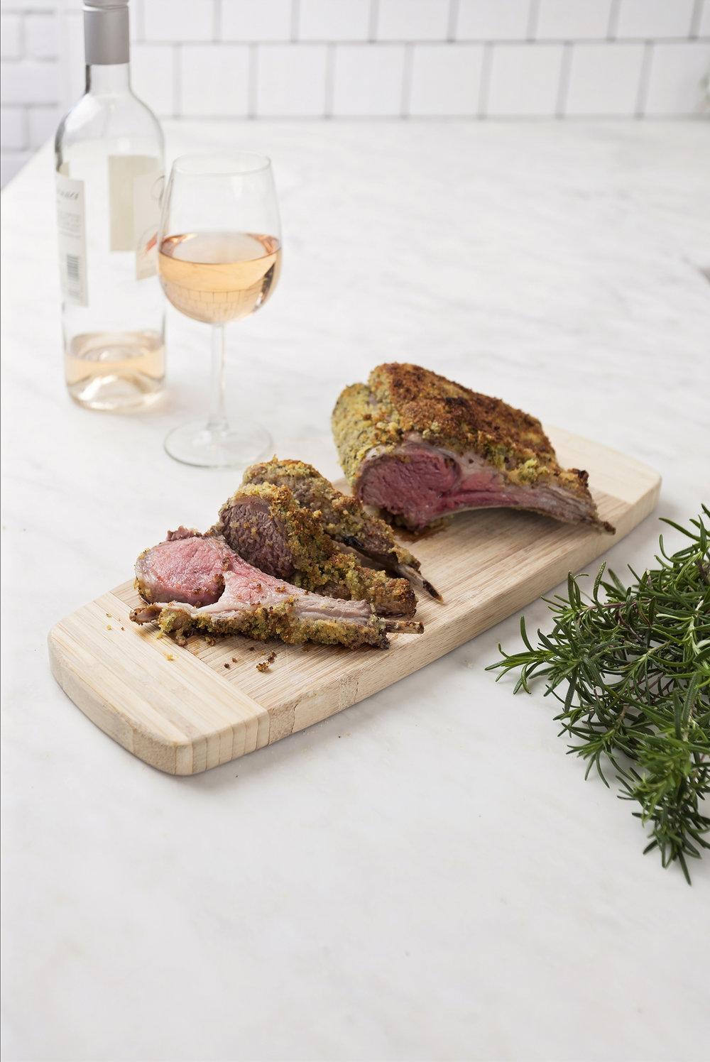 Herb crusted rack of spring lamb - my favorite!