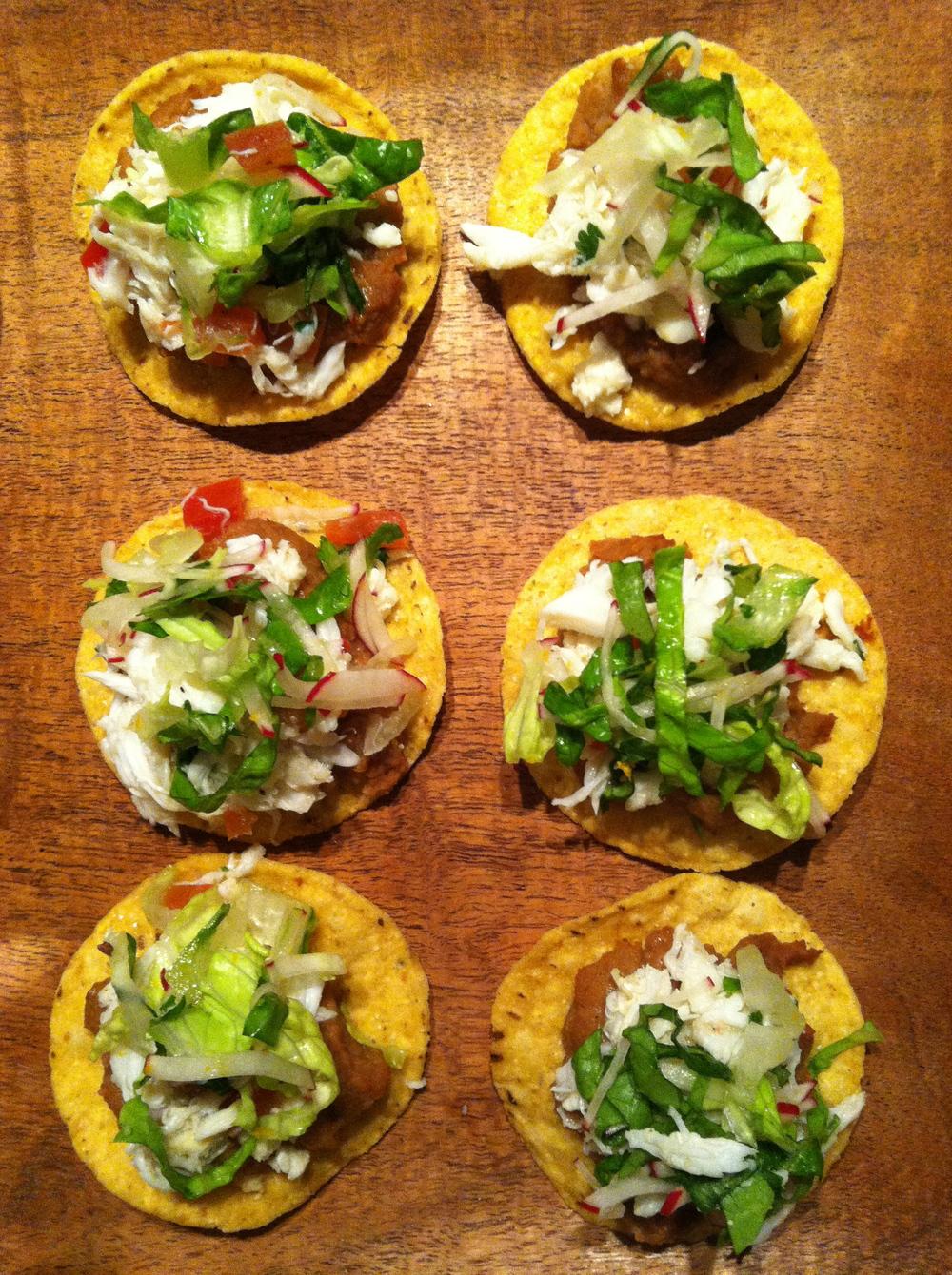 mini crab tostadas