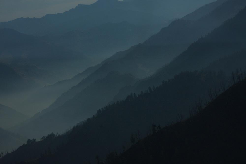Smoke Covered Mountains