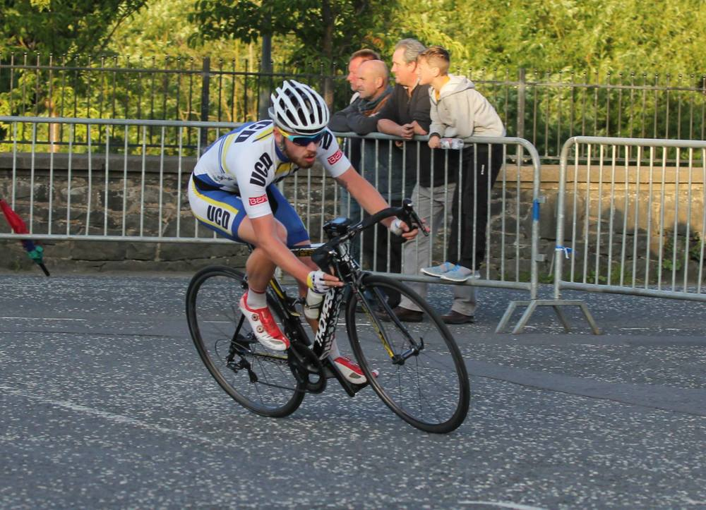 First A2 rider, Daragh Long (UCD)