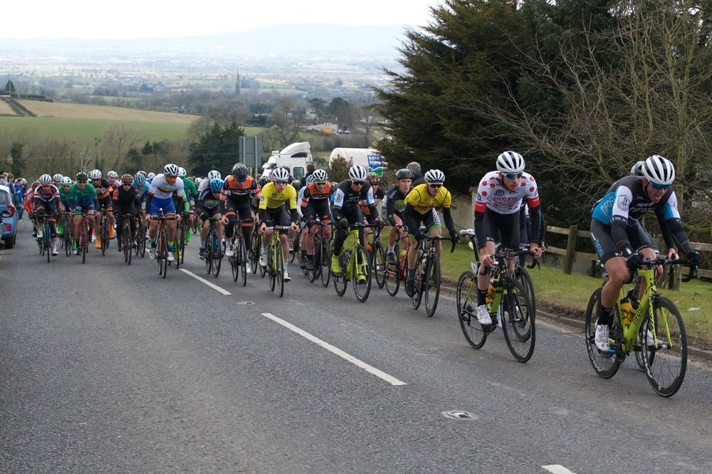 The Banbridge jersey was a constant sight at the from ot the race all weekend