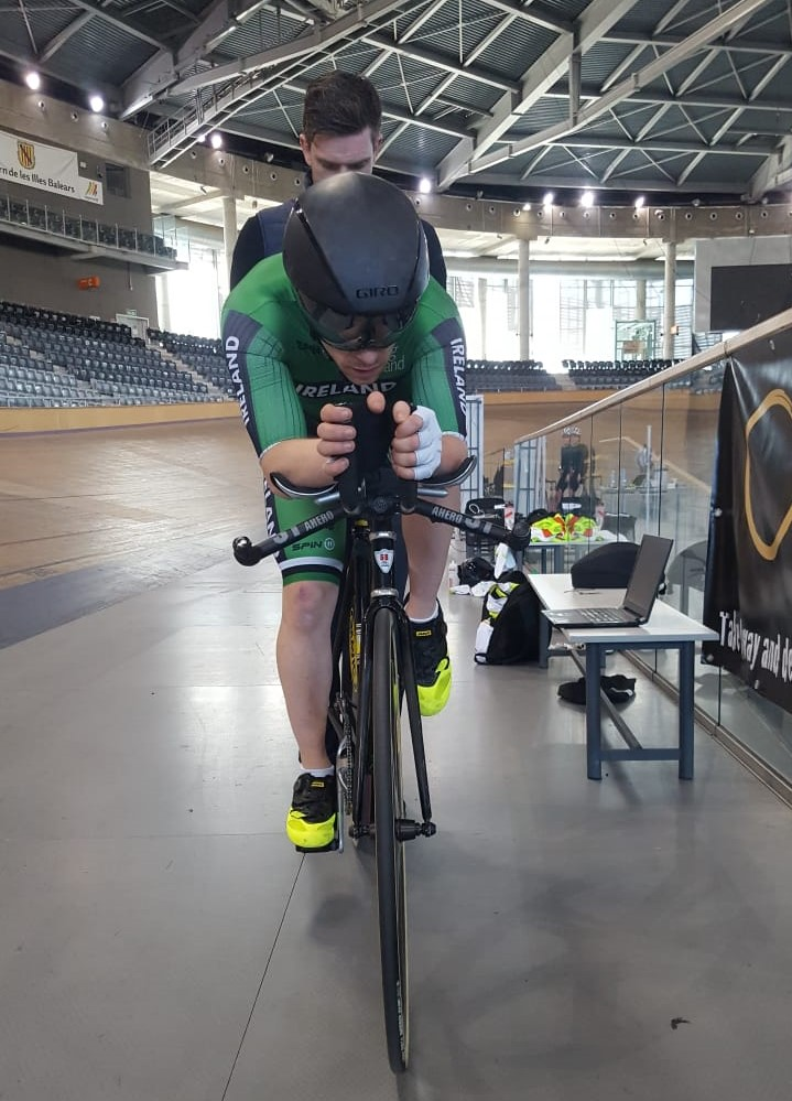 In Good Hands: Chris at a recent training camp in Majorca in preparation for the forthcoming World Championships, being held by former World Champion Martyn Irvine.