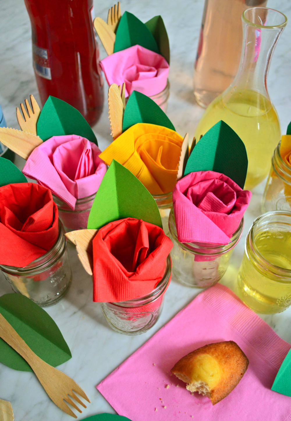 Paper napkin roses super make it rose napkin overhead supermakeit mightylinksfo