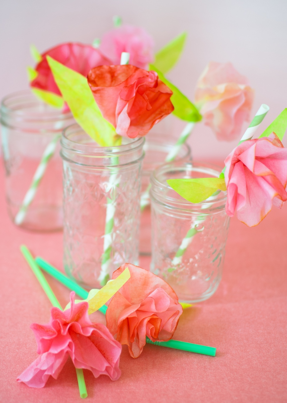 Weekend Project Easy Coffee Filter Flower Straws Super Make It