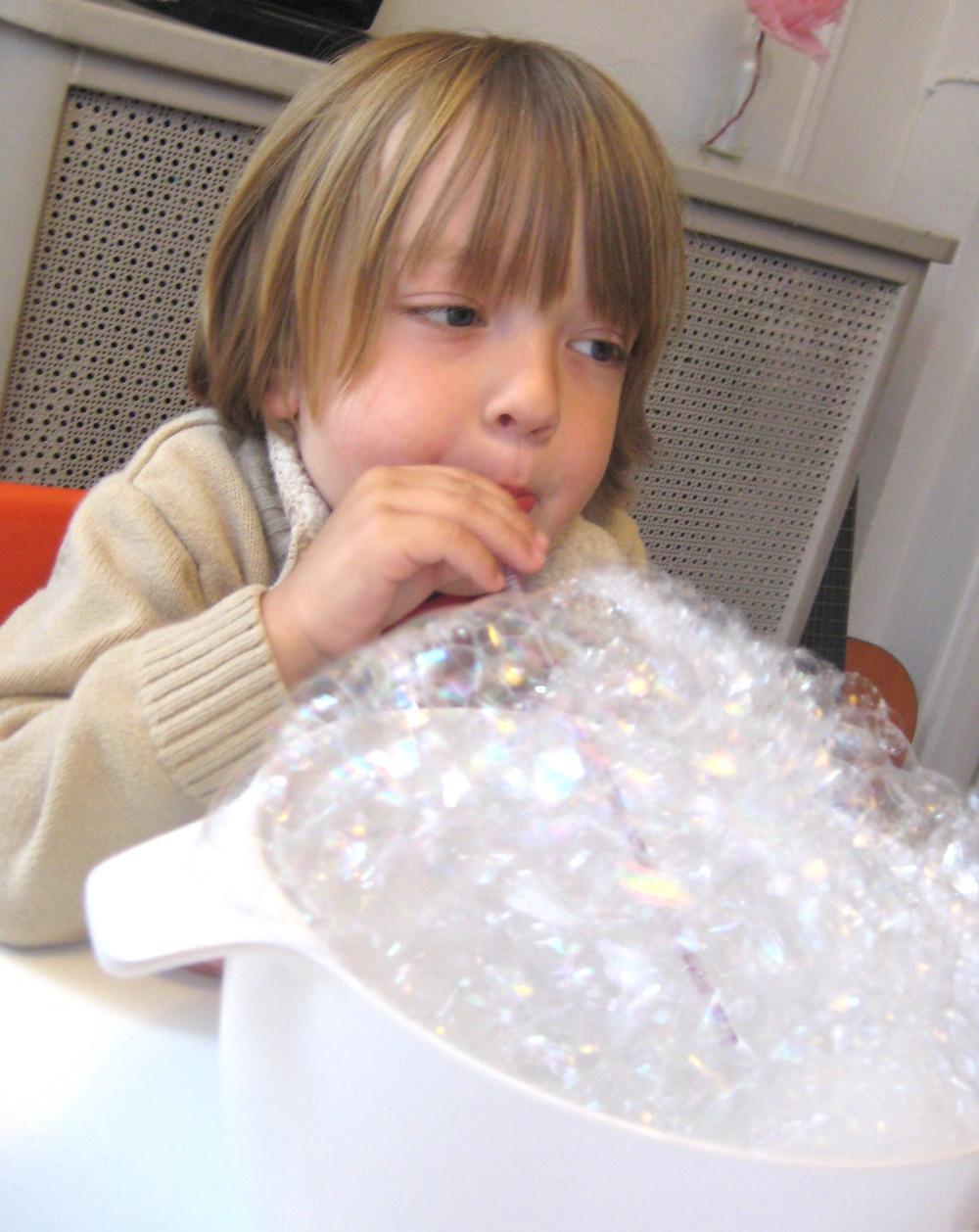 bubble-blowing