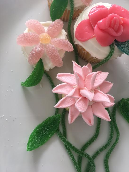 Pretty flower cupcake toppers made from supermarket candy super unnamed 9g mightylinksfo
