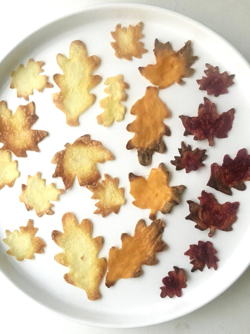 Leaf Chips Plate