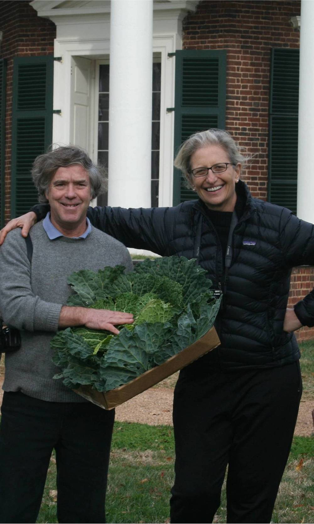 Hatch with Annie Liebovitz, November, 2011, photo by Lisa Stites, courtesy of Thomas Jefferson Foundation