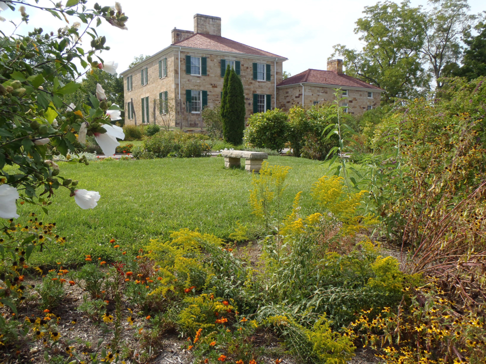 Adena, home of Ohio Governor, Thomas Worthington, with restored gardens designed by Peter Hatch
