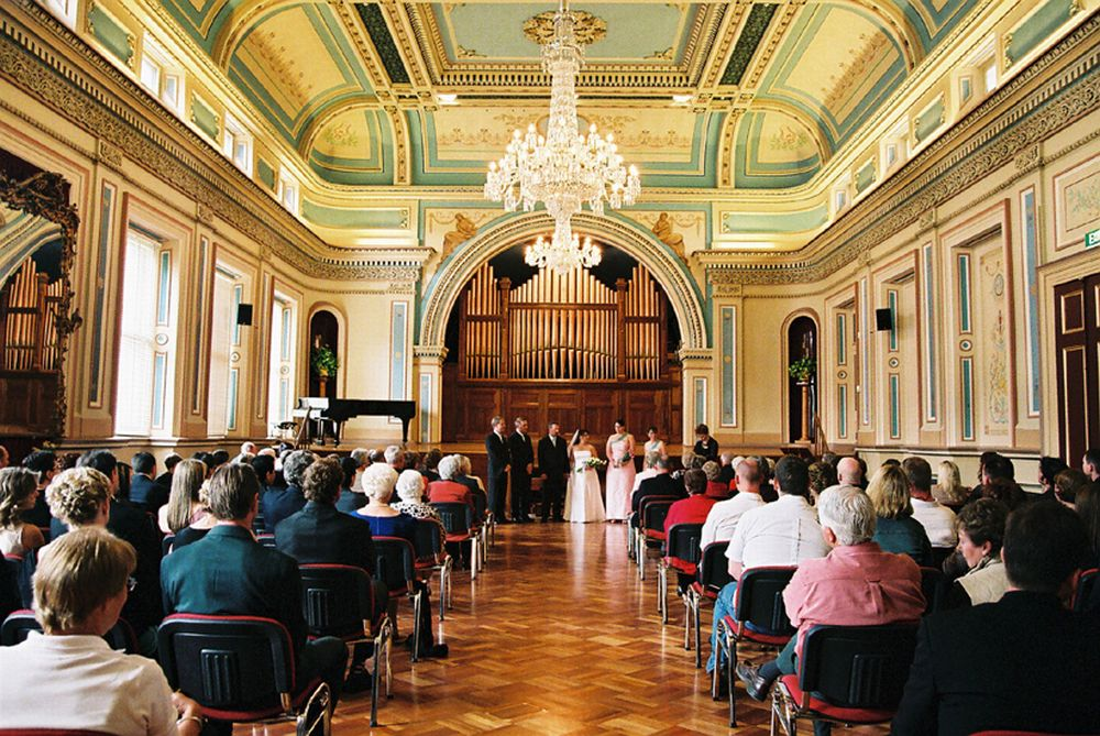 The ballroom in the Hobart Town Hall
