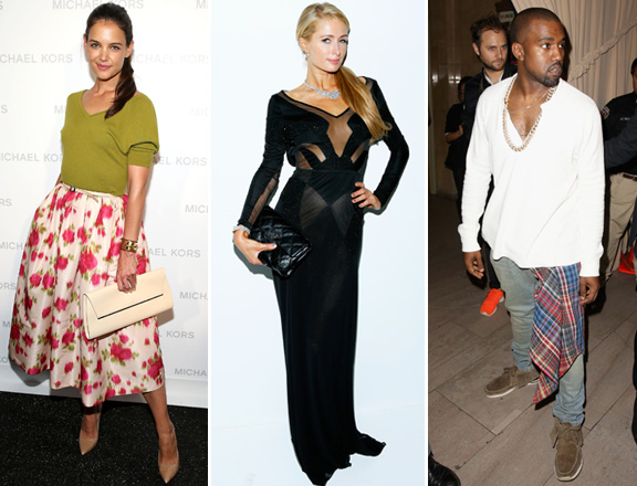Katie Holmes, Paris Hilton, Kanye West And More Celebs At Fashion Week