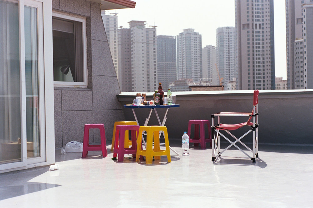"""DAVIS LAM """"I Was Lost But I've Been Found - Yongsan-gu (2016)"""" The rooftop of the guesthouse - davislam.com"""