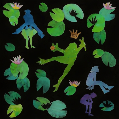 Hey Fabric fans, frog prince lovers and friends, check out my oldest daughter Meera's entry in the June Spoonflower contest.  Her sisters have made a Vote 4 Meera event. http://www.facebook.com/events/538707766176005/?notif_t=plan_admin_added