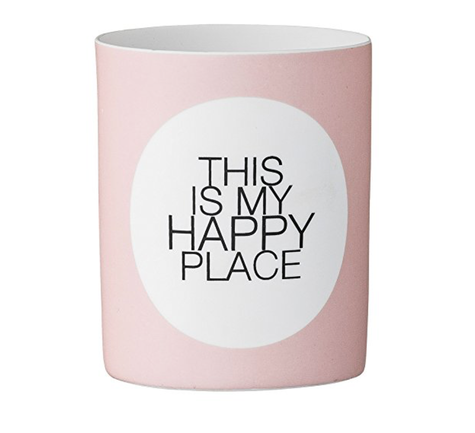 Bloomingville This Is My Happy Place Ceramic Votive Holder
