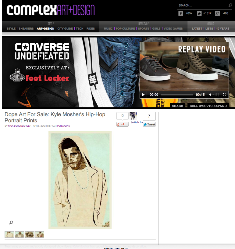 Featured in Complex Magazine