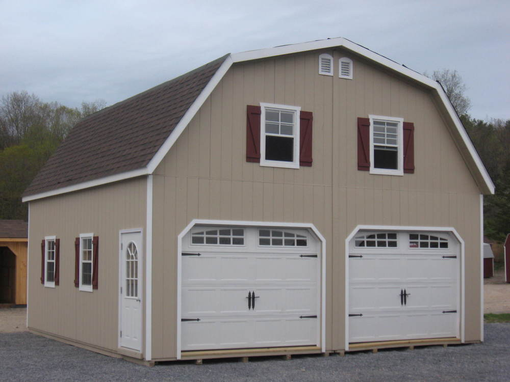 2 story double wide garages ags structures for How wide is a single car garage