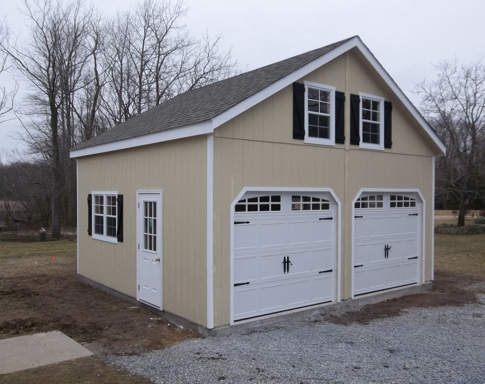 2 story double wide garages ags structures for How wide is a garage