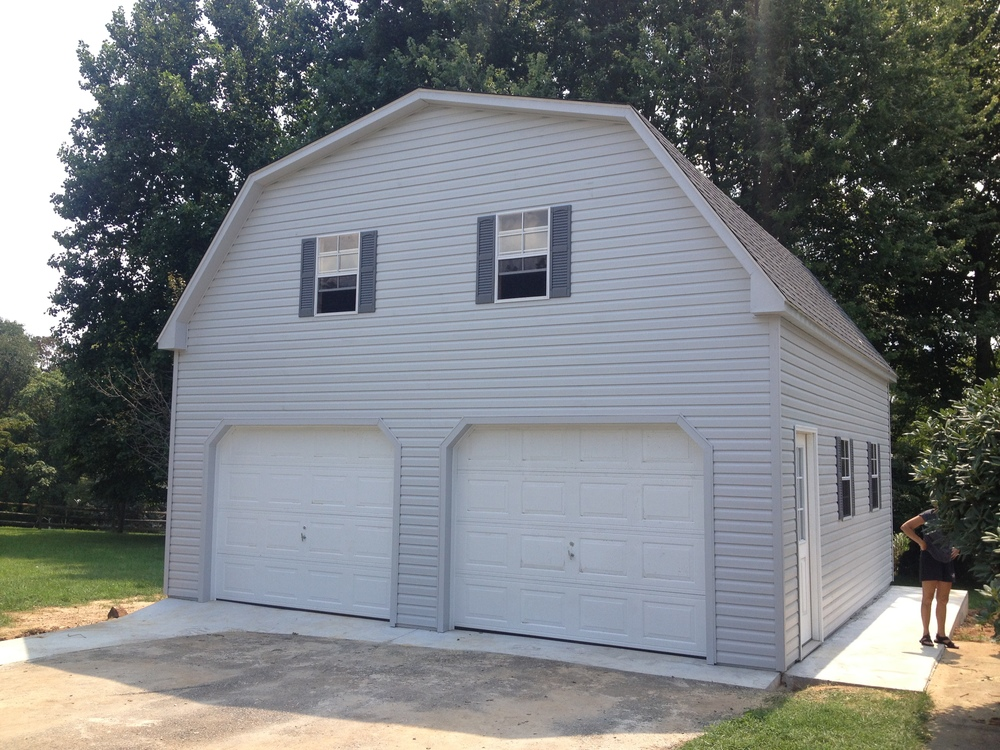 2 story double wide garages ags structures for How wide is a 2 car garage