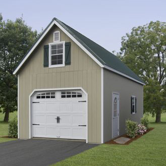 2 story single car garage ags structures for Single car detached garage plans