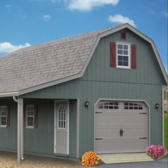 2 story single car garage ags structures for Two story one car garage