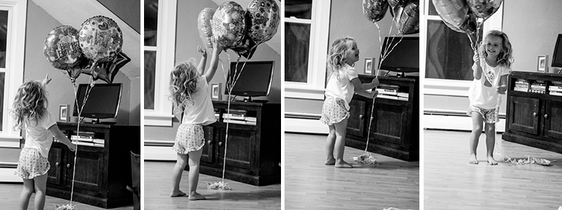 The Balloon Fairy casual real life child photography