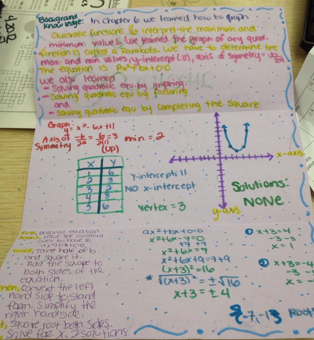 Quadratics Pamphlet