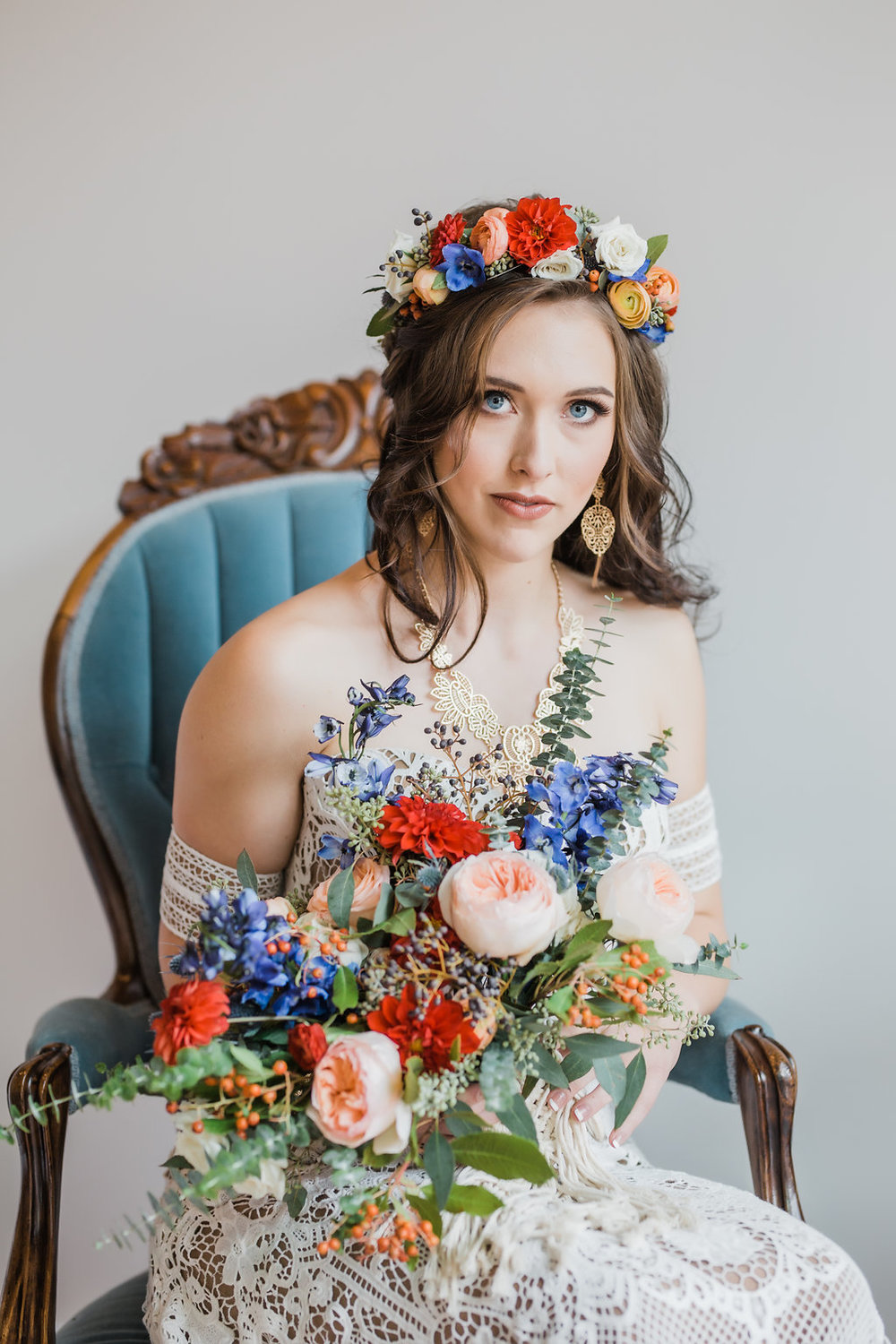 Bridal Crown & Bouquet