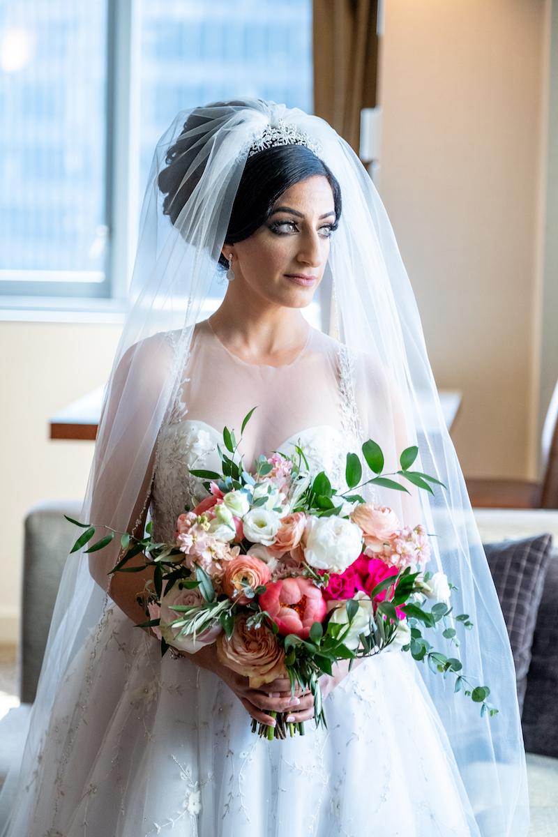 Glamour At The Grand Wyndham Hotel Fab Flora Chicago Wedding Florist