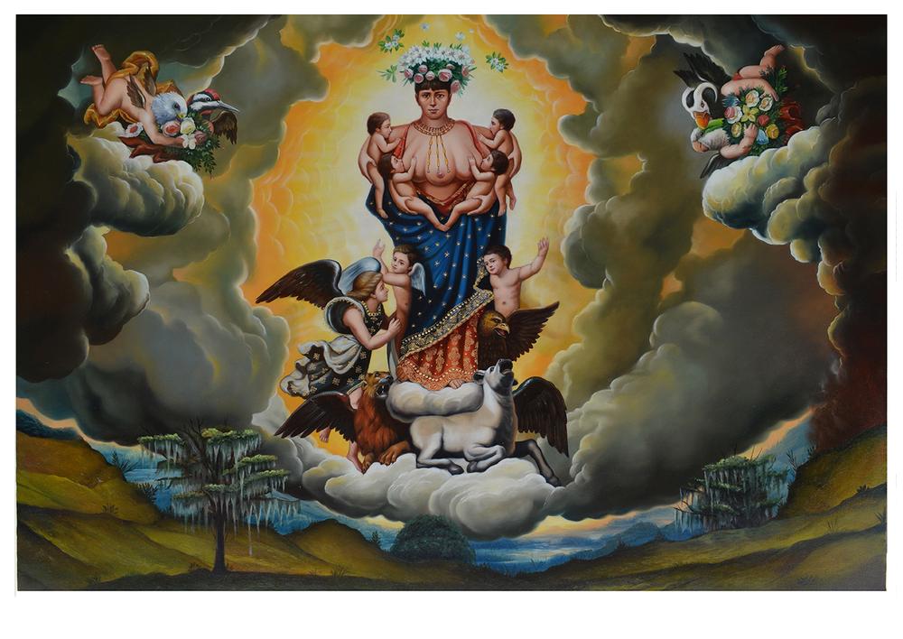 virgen Parda de la Leche (detail triptych)