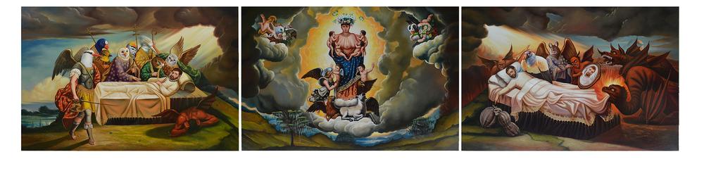 virgen Parda de la Leche (triptych)