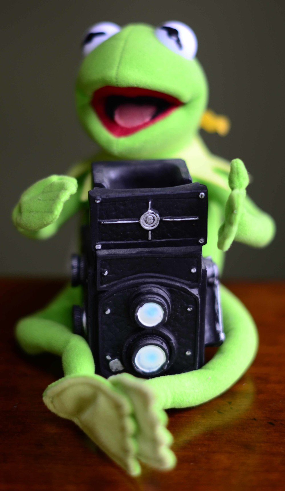 "Kermie says, ""Make a Rainbow Connection at PHOTBOMB, April 13 from noon to six at Soulard Art Market."""