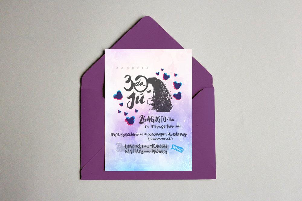 Convite 30 da Jú