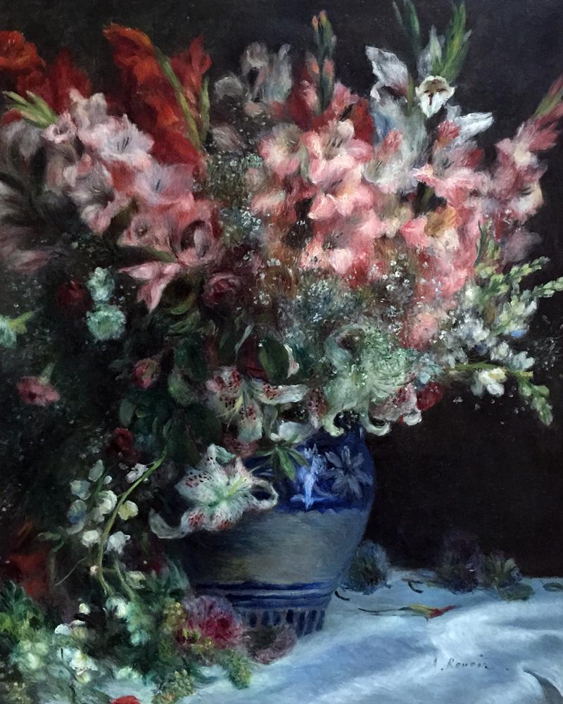 Renoir - Gladioli in a Vase | Kiana Underwood / tulipina.com | Photography: Nathan Underwood / nruphoto.com
