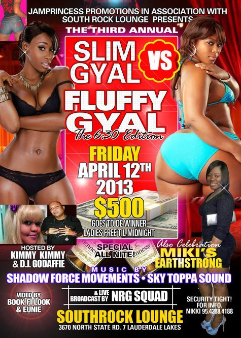 SLim Gyal Vs FLuffy Gyal (April12 2013){Ft Lauderdale}{Events}