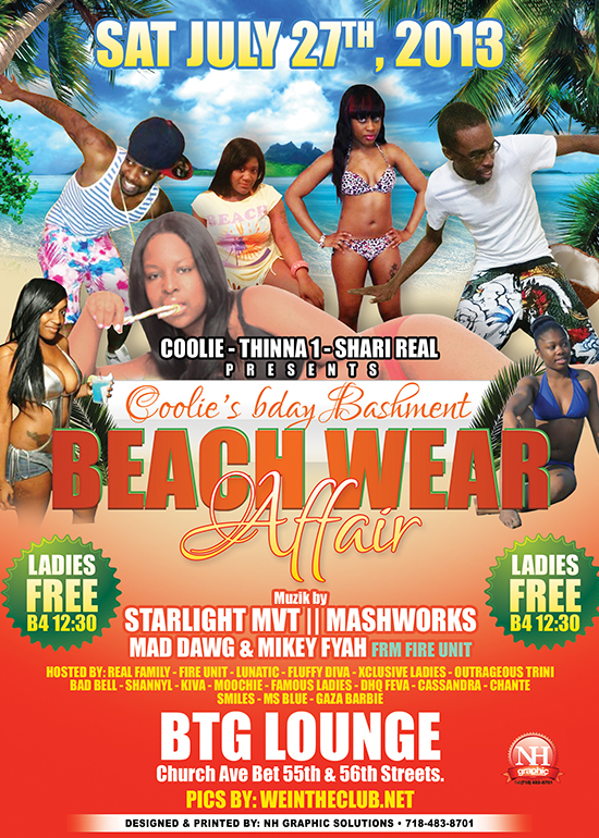Coolies Bday Bash-Beach Wear Affair {Brooklyn,NY}{Events}