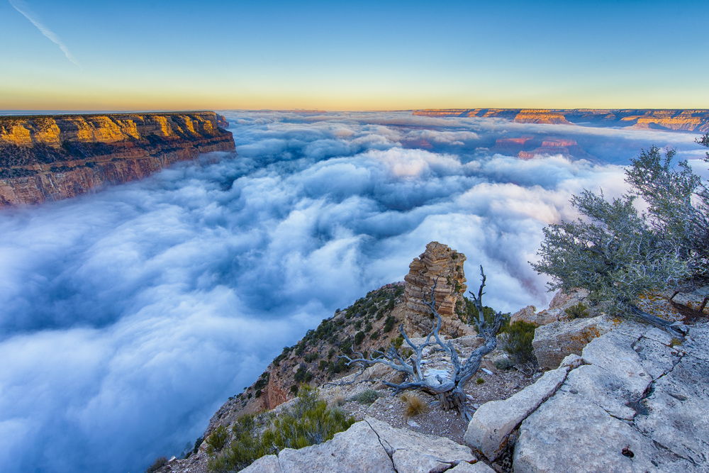 Cloud filled Yaki Point.
