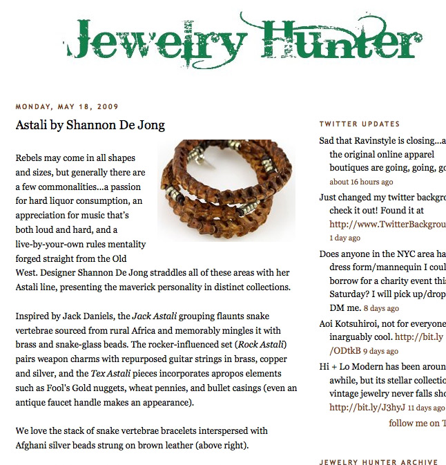 The Jewelry Hunter features Astali
