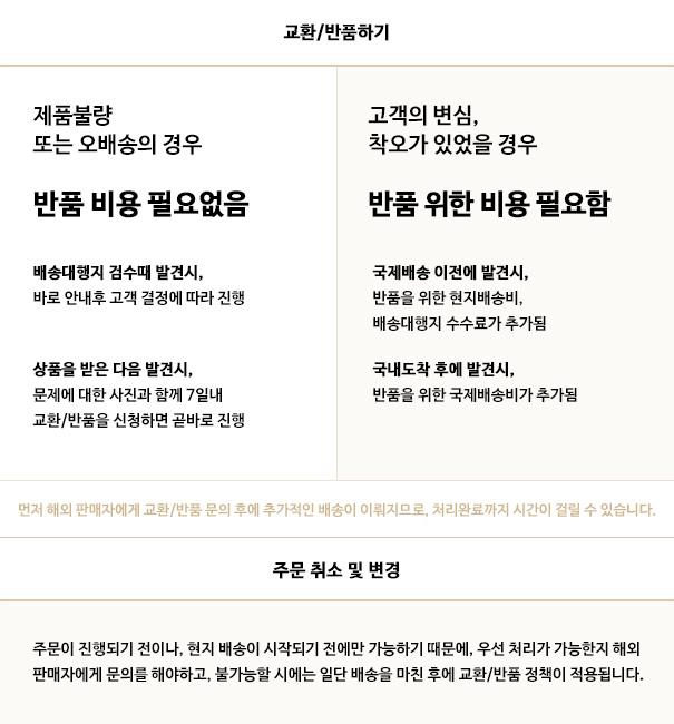 캐주얼스텝스의 교환/반품/주문취소 정책