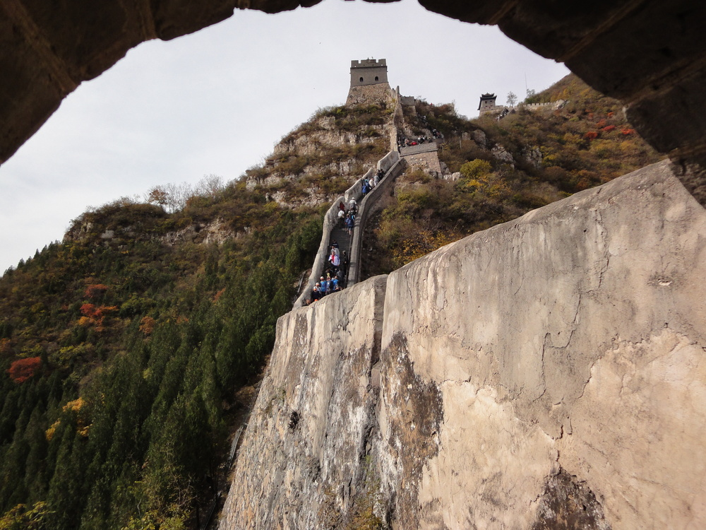 The journey ahead at The Great Wall of China in Beijing, China.