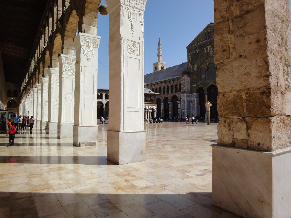 Umayyad Mosque's courtyard in Damascus, Syria.