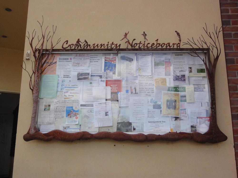 Creswick community noticeboard.JPG