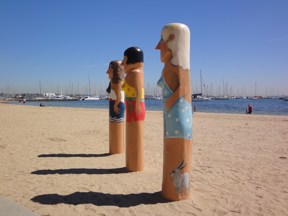 Geelong bollards swimmers