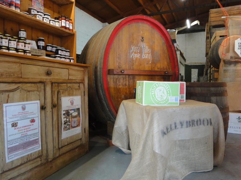 Kellybrook Winery cider barrel