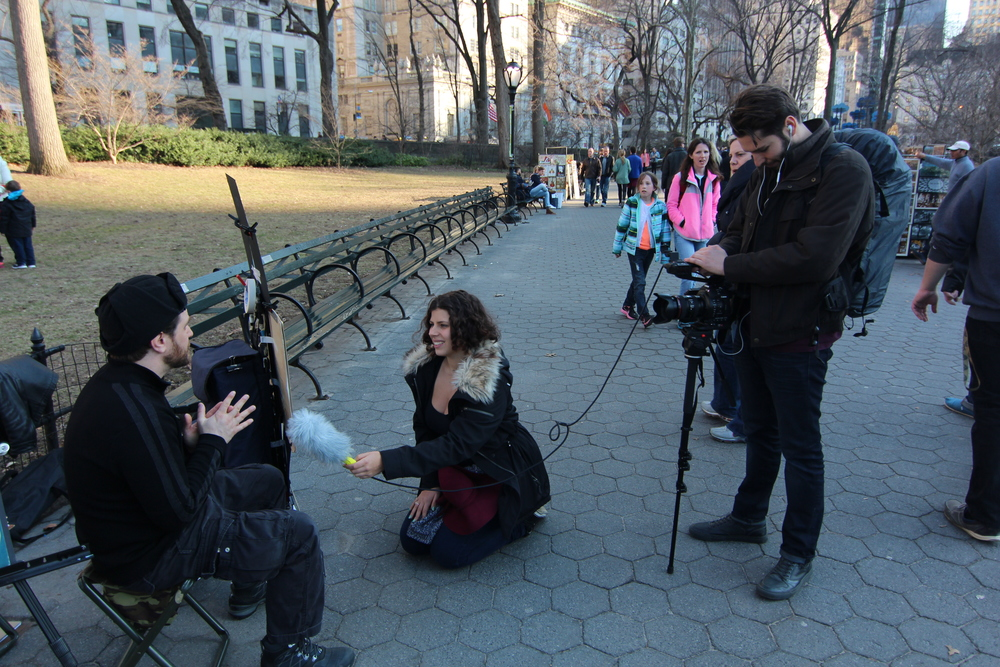Epiphany and Carl in action and on location in Central Park, New York. Photo credit: 365 docobites.