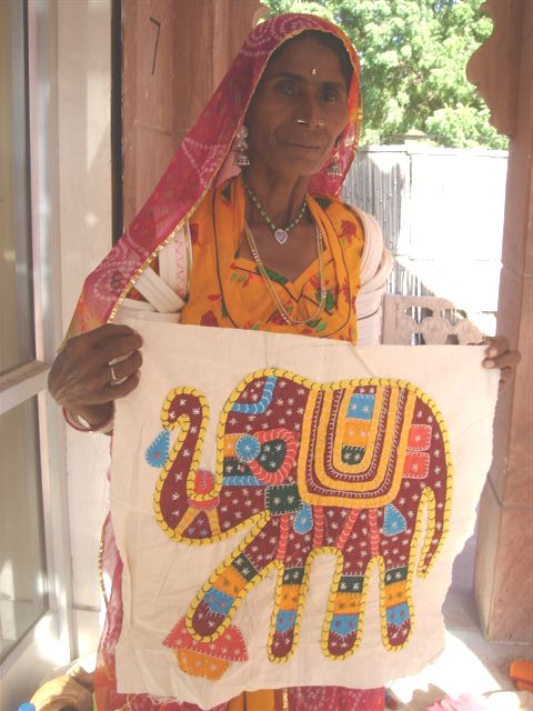 Gorgeous cloth skillfully hand-embroidered by a local Thar Desert woman. Photo credit: Ashok Bishnoi