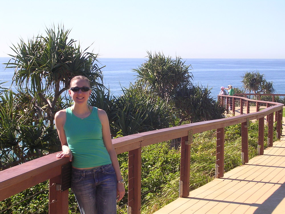 Me while on a destination hibernation in Byron Bay. Sunshine galore!